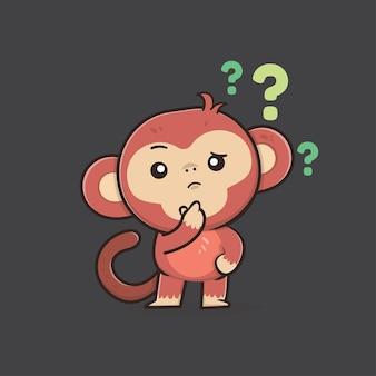 Illustrazione di scimmia animale carino fauna selvatica