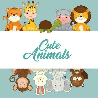 Simpatici animali baby shower card