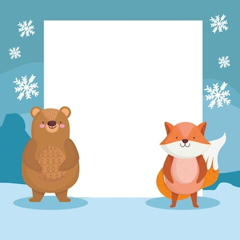 Carta vuota di simpatici animali