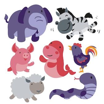 Raccolta di animali carini