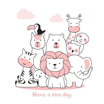 Simpatici animali. buona giornata