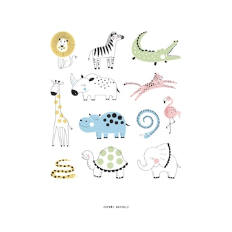 Simpatici animali insieme.