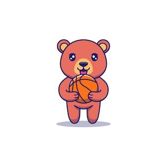 Simpatico astronauta che trasporta palla da basket