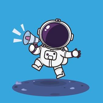 Illustrazione sveglia del fumetto dell'astronauta