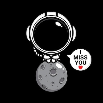 L'astronauta carino manca molto