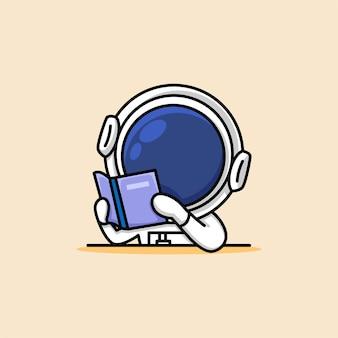 L'astronauta sveglio sta leggendo un fumetto del libro