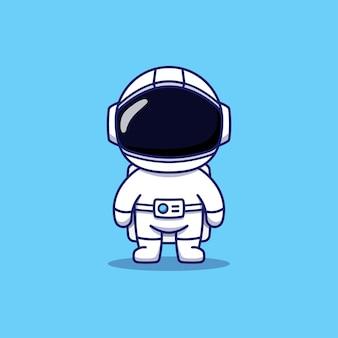 Simpatico astronauta che indossa la tuta spaziale