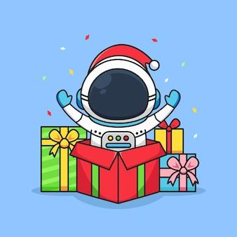 Astronauta carino con premio colorato