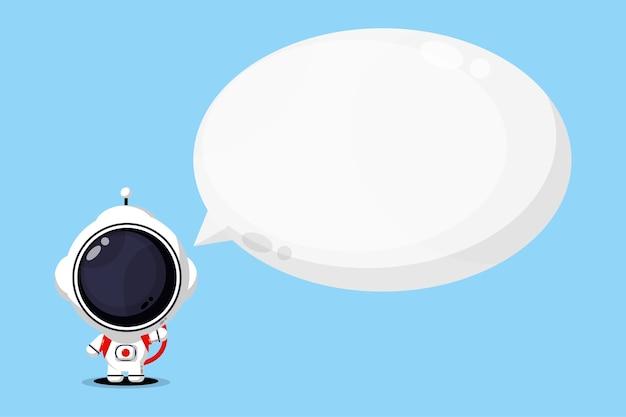 Astronauti carini con discorso bolla