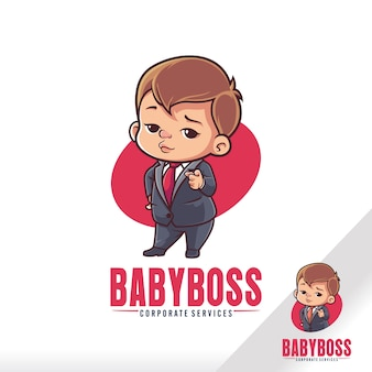 Cute baby boss child cartoon