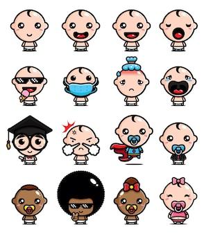 Simpatico pacchetto di personaggi per bambini