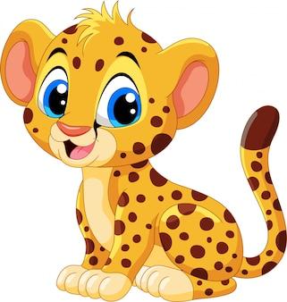 Fumetto sveglio del ghepardo del bambino