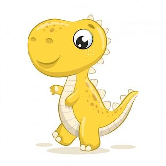 Illustrazione sveglia del dinosauro del bambino.