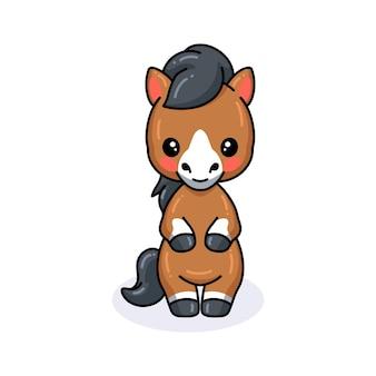 Cartone animato carino asino in piedi