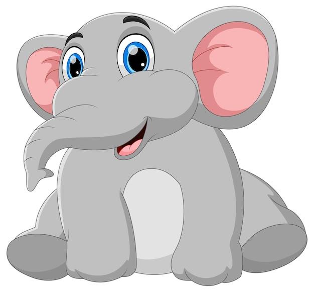 Cartone animato carino elefante bambino