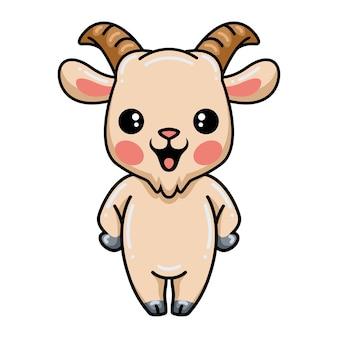 Cartone animato carino capra in piedi