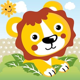 Cute leone di bambino