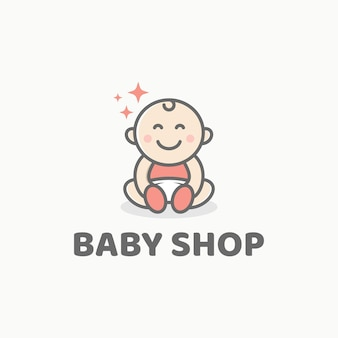 Modello di progettazione del logo del bambino carino