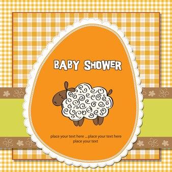 Scheda sveglia della neonata con le pecore