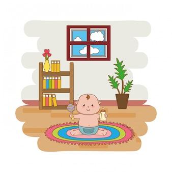 Cartone animato carino baby shower