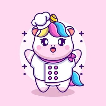 Fumetto del cuoco unico di unicorno sveglio del bambino