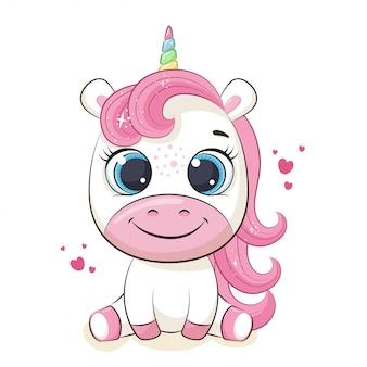 Illustrazione sveglia dell'unicorno del bambino.