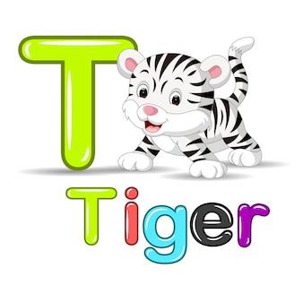 Carino tigre bianca bambino