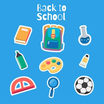 Illustrazione di ritorno a scuola carino