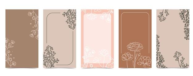 Sfondo carino per i social media con magnolia, lavanda, fiore