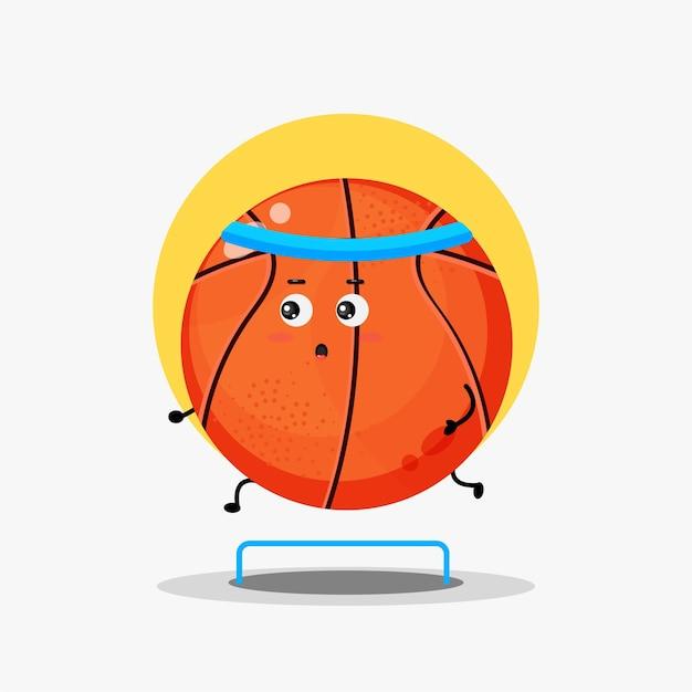 Simpatico personaggio da basket in gara