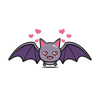 Mascotte sveglia del fumetto del pipistrello