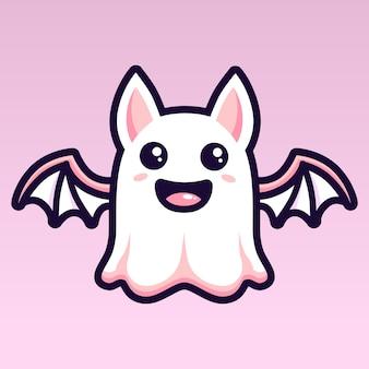 Simpatico personaggio fantasma pipistrello