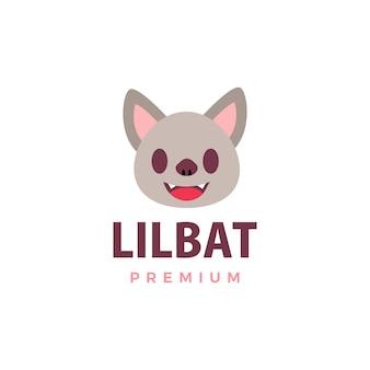 Illustrazione sveglia dell'icona di logo del pipistrello