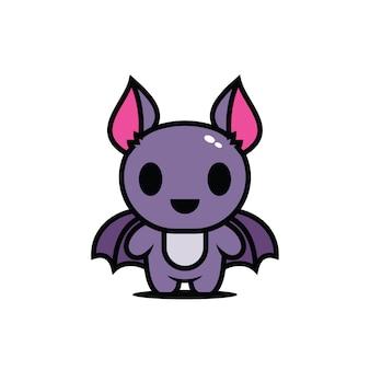 Simpatico personaggio mascotte pipistrello