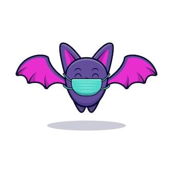 Illustrazione dell'icona del fumetto della maschera da portare del pipistrello sveglio
