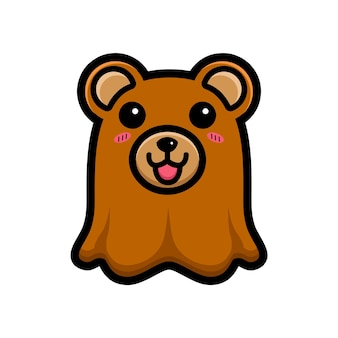 Simpatico orsetto fantasma personaggio design