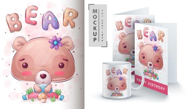 Simpatico poster e merchandising dell'orso