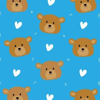 Simpatico orsetto senza cuciture