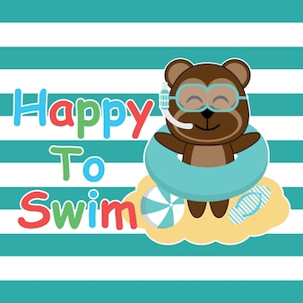 Carino nuoto sfondo nuoto