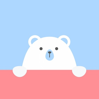 Simpatico orso in stile piatto alla moda
