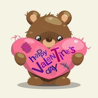 Simpatico orso per san valentino
