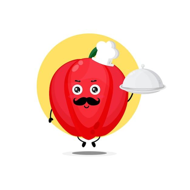 I simpatici personaggi di peperone diventano chef