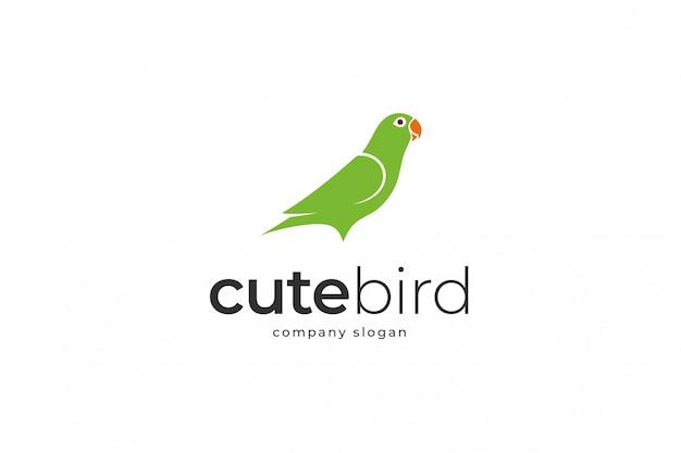 Modello di logo uccello carino