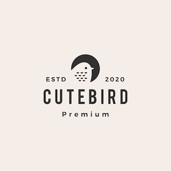 Logo vintage uccello carino
