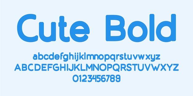 Carattere alfabeto carino bold sans