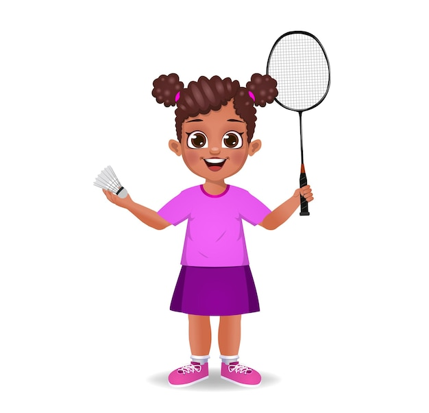 Ragazzo carino che gioca a badminton