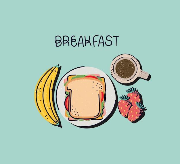 Design carino per la colazione