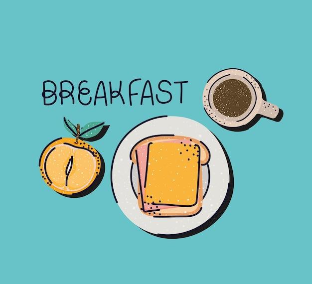 Illustrazione carina per la colazione