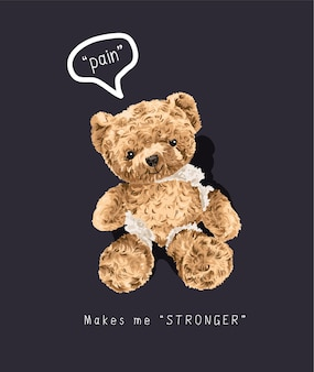Simpatico orso rotto giocattolo
