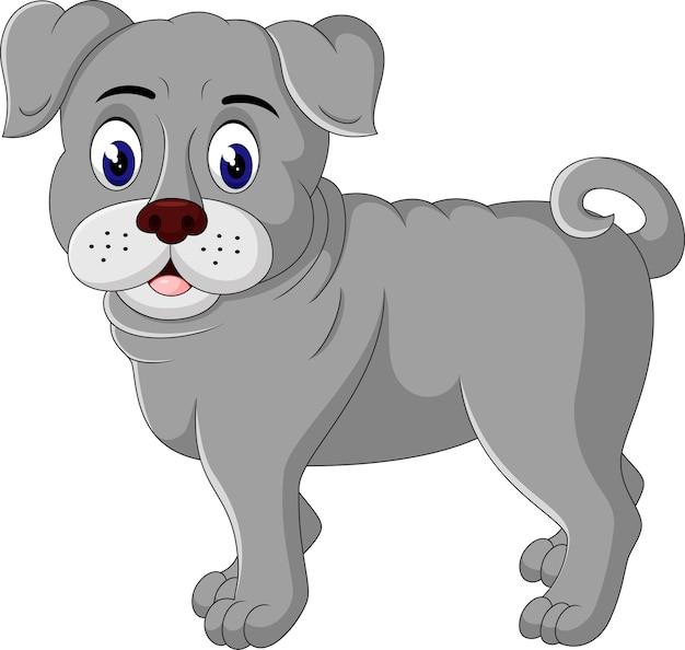 Cartone animato carino bulldog